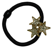 Hair Tie with 3 Rhinestone Stars