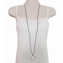 Leather & Stainless Steel Necklace by Aqua Dulce