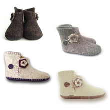 Slipper Boots w. Flower