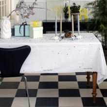 Stardust  Table Cloth in Silver by Medusa Copenhagen