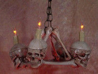 Skull / Femur Bone Chandelier with Four Small Skulls  SKUL200M  2 WEEK DELIVERY
