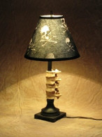 Desk Lamp with Spine and Bone shade