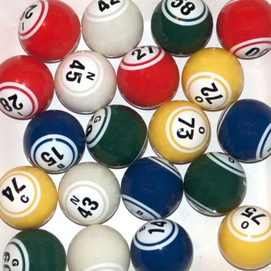 Double Numbered Multi-Colored Bingo Balls