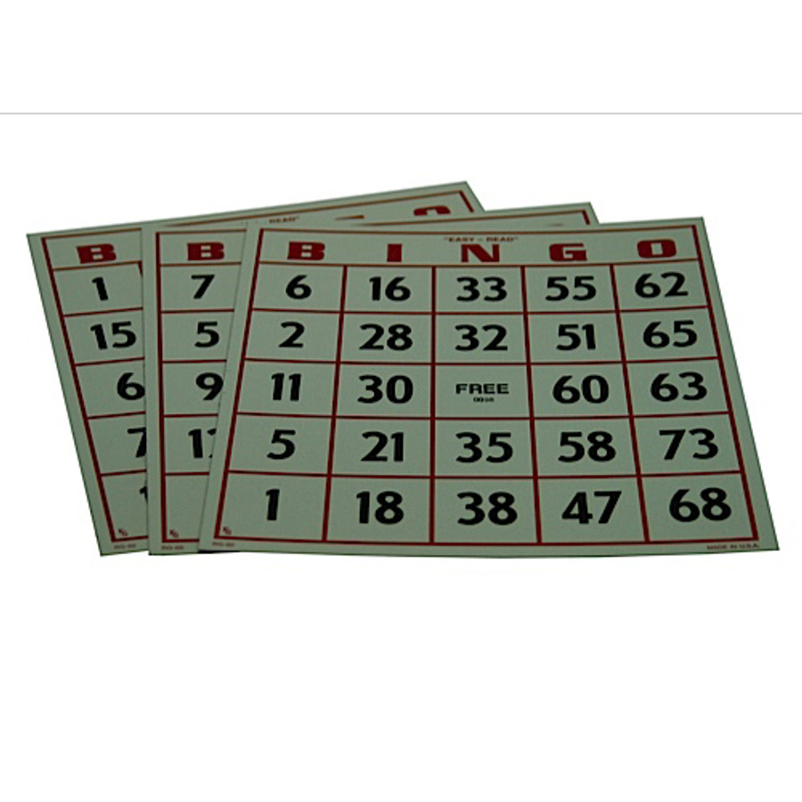 Easy Read Bingo Card
