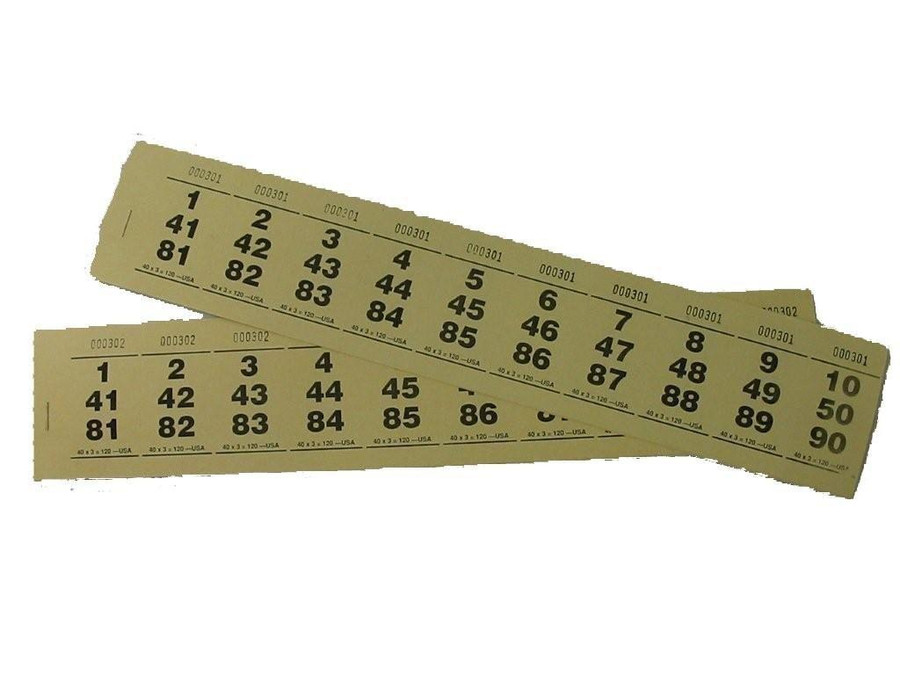 Paddle Tickets - 15 x 4