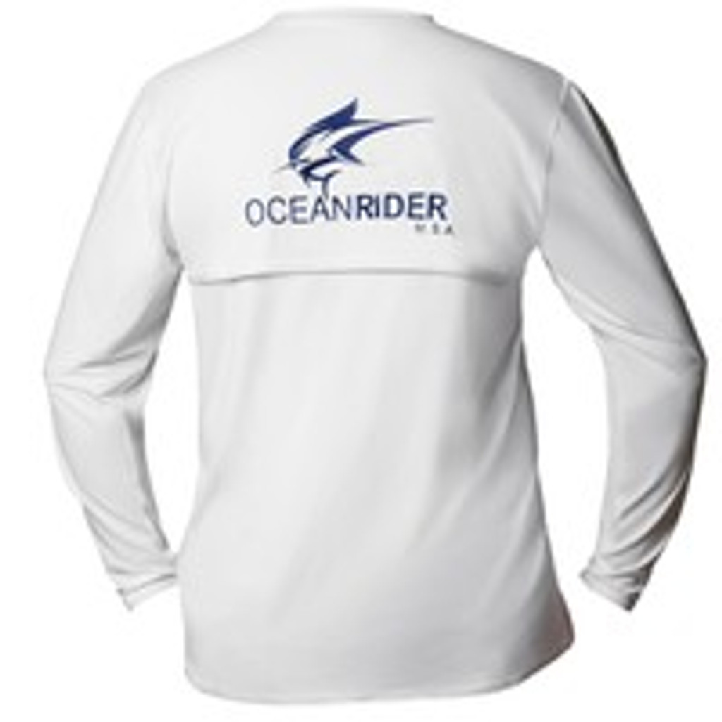 Ocean Rider Men's Performance UPF 50 Back Vented Long Sleeve Shirts