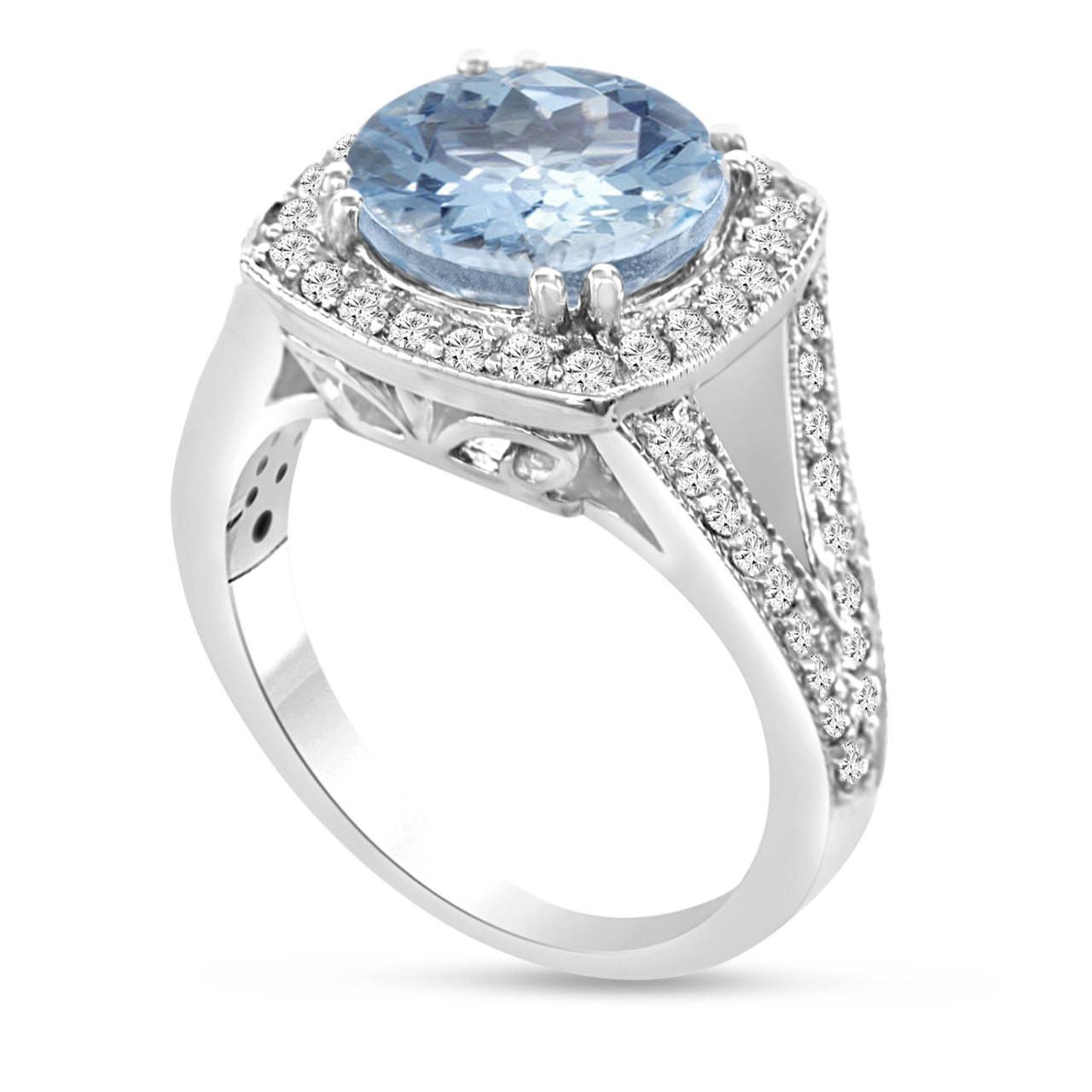 950 platinum aquamarine engagement ring 2 90