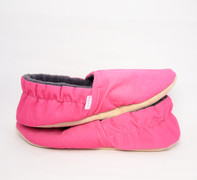 Pink Cordoury Bison Booties Slippers