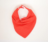 Red Polka Dot Bison Bib