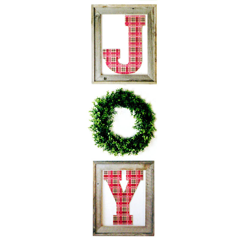 Easy Diy Christmas Wall Decorations : Quick and easy diy christmas projects joy wall hanging