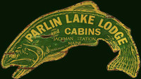 Fish-shaped Lodge and Cabin Nostalgic Advertising Sign