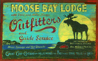 Moose Bay Lodge Vintage Sign
