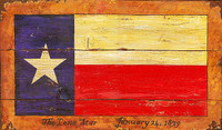Vintage Signs - Texas Flag