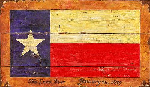 Vintage Signs - Texas Flag