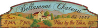 Bellamont Chateau - Vintage Vineyard and Wine Sign