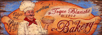 La Toque Bakery -Vintage Restaurant and Kitchen Sign