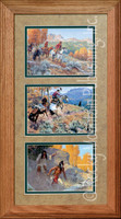 Bear Country, Clark Kelley Price Western Art Framed Set 10x20