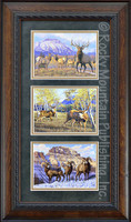 Double Take Triple, Manuel Mansanarez Wildlife Art Framed Set