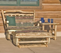 Log Loveseat Glider Rocker - No Ottoman