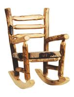 Rustic Log Rocking Chair