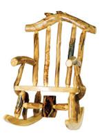 Log Snowload Rocking Chair