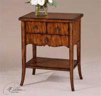 Uttermost Carmel Wood End Table