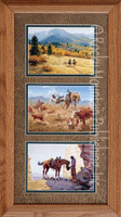 Stuff Happens, Clark Kelley Price Western Art Framed Set