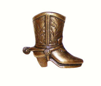 Cowboy Boot Cabinet Hardware Knob - Right Facing