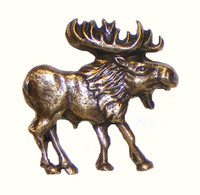 Walking Moose Cabinet Hardware Knob - Right Facing