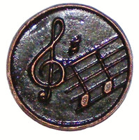 Musical Notes Round Cabinet Hardware Knob