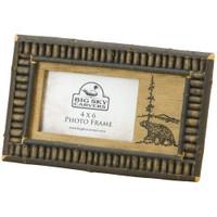 Black Bear Twig 4x6 Rustic Frame