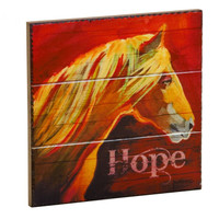 Hope Horse Wall Plaque, 8x8 inches