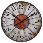 Antique Crackled Wall Clock- Ellsworth