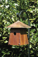 Avian Bungalow Bird House in Mahogany.