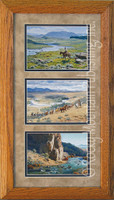 River Country, Clark Kelley Price Western Art Framed Set