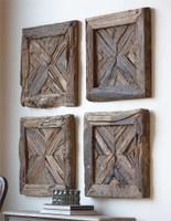 Uttermost Rennick Reclaimed Wood Wall Art