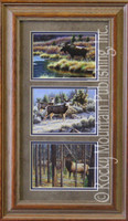 Big Game, Cynthie Fisher Wildlife Art Framed Set 10x20