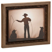 Braggin' Rights - David Stoecklein Canvas Print in Barnwood Shadow Box