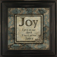 Joy - To Get It We Must Give It Framed Wall Quote