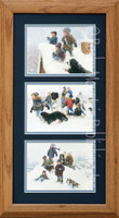 Snowball Fights, Robert Duncan Country Wall Art Framed Set