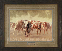 The Bulls Cometh, Greg Beecham Western Art Framed Print