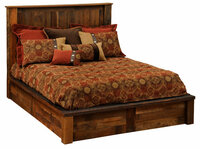 Barnwood Platform Bed - Reclaimed Wood