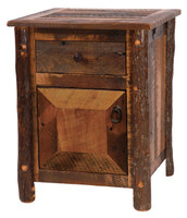 Barnwood Enclosed Nightstand - Hickory Legs