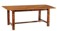 "7 Foot Reclaimed Wood Farm Table - Standard Finish - 42"" Wide"