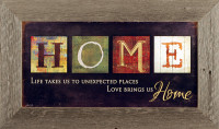 Love Brings Us Home - Marla Rae Art Print Framed in Distressed Wood