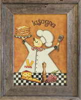 Chef Lasagne Wall Decor Print
