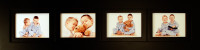 4 Opening Collage Picture Frame with Four Landscape 4x6 Picture Openings