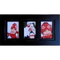 Collage Picture Frame with Three 8x10 Portrait Openings