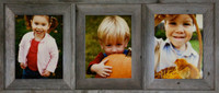 Collage Picture Frame - Barnwood Triple Frame, 8x10