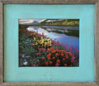 teal or robin egg blue barnwood picture frame size 85x11